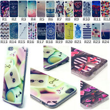 Rubber Silicon Soft TPU Back Phone Skin Case Cover For Various Cell Smartphone