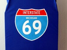 Michigan I-69 Interstate road sign T-shirt, New made to order Adult Sizes S-3XL