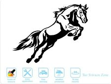 Jumping Horse Large Decal Vinyl Sticker For Wall, Cars, Vans & Horseboxes.