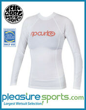 Rip Curl Surf Team Womens Rashguard Long Sleeve 50+ UV Rash Guard White