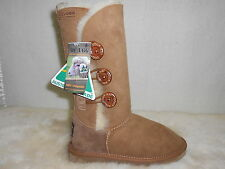 Genuine Sheepskin 3 Button Style Women UGG Boots Chestnut Colour Australia Made