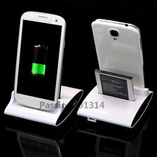 Dual Sync Battery Charger Cradle Dock Station Stand For Samsung Galaxy S3 S4