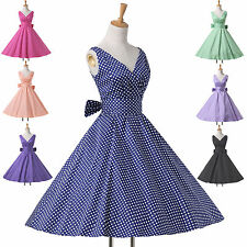 GK CHEAP CLEARANCE CLASSIC VINTAGE STYLE 1950's ROCKABILLY SWING PINUP 50S DRESS