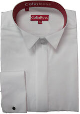 Mens Ivory or White Wing Victorian Swept Wing Dress Formal Wedding Shirt
