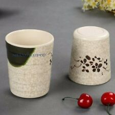 2 X Plastic Crack Style Floral Cups Mug Drinking Coffee Water Tea Travel Canteen