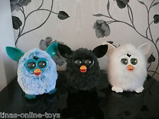 HASBRO OFFICIAL FURBY BLACK WHITE YETI SILVER CLOUD INTERACTIVE PET TOYS FURBIE