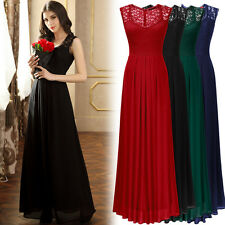 Womens Elegant Long Formal Evening Prom Party Ball Gown Prom Bridesmaid Dresses