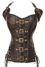 Coffee Buckle-up Steampunk Corset LC5342 sexy women bustier underwear