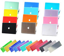 "Rubberized Hard Case Shell+Keyboard Cover for MacBook 12""Pro13/15""Air 11/13""inch"
