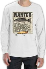 Fisherman Gift Idea Wanted Fish Funny Unique Design Long Sleeve T-Shirt