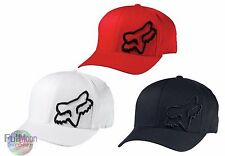 New Fox Racing Mens White Black Flex 45 Flexfit Hat Cap