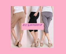 Loose Fitting Sweat Absorbing Knee Length Ice Silk Sports Gym Dance Trousers Mum