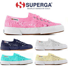 SUPERGA - SCARPE SNEAKERS SHOES DONNA RAGAZZA PIZZO SPORT RUNNING 2750 MACRAMEW