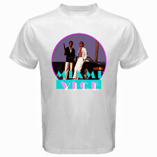 New MIAMI VICE Retro TV Series Don Johnson Men's White T-Shirt Size S to 3XL