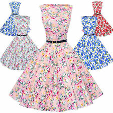 Maggie Tang 50s VTG Retro Pinup Hepburn Rockabilly Floral Housewife Dress 533