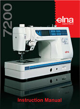 ELNA 7200 Quilter's Dream PRO Instructions or Service manual / Parts * on CD/PDF