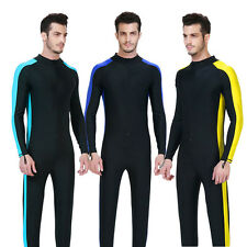 Men's Snorkeling Diving Dive Surfing Jump Suits Lycra Rash Guards Scuba Swimwear
