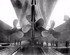 The Titanic Ship Propellers -White Star Lines -  Vintage Reproduction Photograph