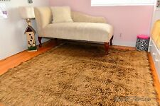 Grizzly Bear Rectangle Area Rug Faux Fur Lodge Cabin Decor Brown Bearskins Home