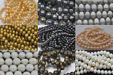 Natural drilled 4 -12mm round freshwater pearl DIY jewelry making limited offer