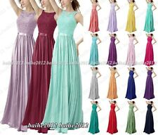 Stock New Design Long Evening Formal Ball Prom Party Bridesmaid Dress Size 6-18