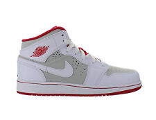 Kids Air Jordan 1 Mid WB GS Hare Bugs Bunny White Red Light Silver 719554-123