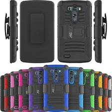 Armatus Gear Rugged Hybrid Armor Case Phone Cover and Holster Combo for LG G3
