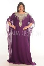 NEW JALABIYA JILBAB GEORGETTE WEDDING GOWN THOBE MODERN FANCY CAFTAN DRESS  4821