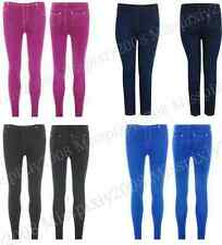 NEW LADIES STRETCH DENIM LOOK SKINNY FIT LEGGINGS WOMENS JEGGINGS SIZES 8-14