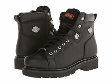 Harley Davidson Work Boots Mens Black Barton Leather Riding Boot D93199