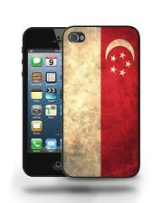 Singapore National Vintage Flag Case Cover for iPhone 4 4S 5 5C 5S 6 6 Plus