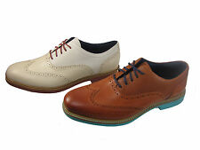 Cole Haan Mens Great Jones Wing Tip White Or Brown Business Casual Oxford Shoes