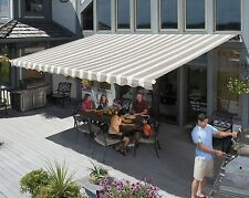 16' SunSetter Motorized Awning in Acrylic Fabric by SunSetter Awnings