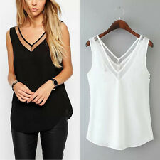 New Women Lady V Neck Summer Top Tank Sexy Blouse Sleeveless Vest T-Shirt