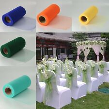 "Nice 1 Roll 6""X25 Yard TULLE FABRIC SPOOL ROLL WEDDING BRIDAL BOWS TUTU NETTING"