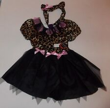 Leopard Kitty Cat Halloween Costume Dress Size 2 3 4 5 6 XXS XS S Girls
