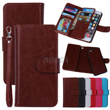 Folio Wallet Premium Leather Card Holder Handbag Case For iPhone Samsung HTC LG