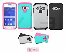 For Samsung GALAXY ACE 4 LITE G313ML Hybrid ShockProof Rubber Hard Case Cover