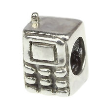 Authentic 925 solid Sterling Silver charm Phone bead For Bracelet