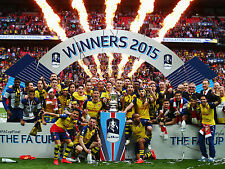 Arsenal FC - FA Cup Winners 2015 - A1/A2/A3/A4 Poster / Photo Print