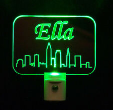 Custom Cleveland Ohio Skyline LED Night LED Night Light, Handmade-Gift