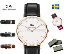 Watches DW Watch For Men women Leather strap Japan movement Military With box