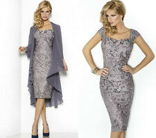 Free Jacket New Short Lace Mother of the Bride dress Evening Formal Dress:6-18