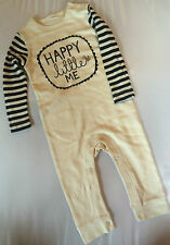 New 100% cotton Ivory Bumble Bee Sleepsuit Onesie Babygrow Romper Suit 9-12m