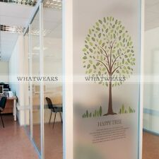 Waterproof PVC Self-Adhesive Anti UV Frosted Glass Window Film Wall Sticker A44