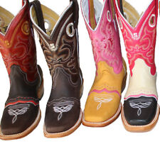 Women's Leather Cowboy Boots Roper Western Rodeo Biker Chick  $89.99 Style 820