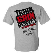 Train Gain Respect In That Order Bodybuilding T-Shirt by Ironville Clothing