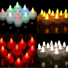 White/ Amber LED Waterproof Floating Tea Light Flameless Candle Wedding Party