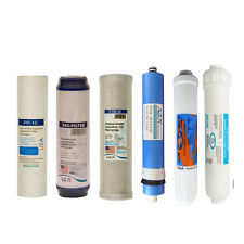 Full 6 stage Reverse Osmosis Replacement Filter set with 50/75/100 GPD membrane