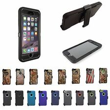 For Apple iphone 6/6 plus Hybrid Defender Cover Protective Camo Case w/Belt Clip